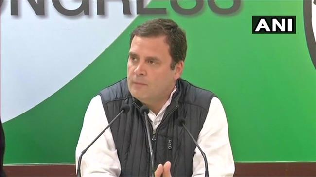 Congress President Rahul Gandhi addresses the media on the Judges Press Conference